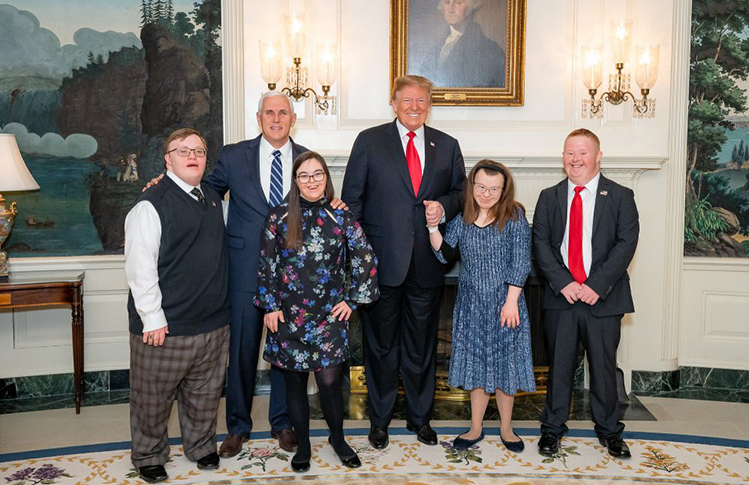 President Trump with Down Syndrome Children