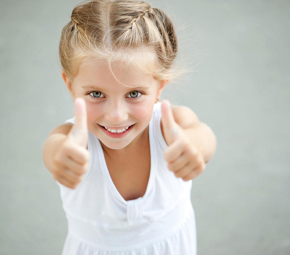 Effective Advertising Girl Thumbs Up